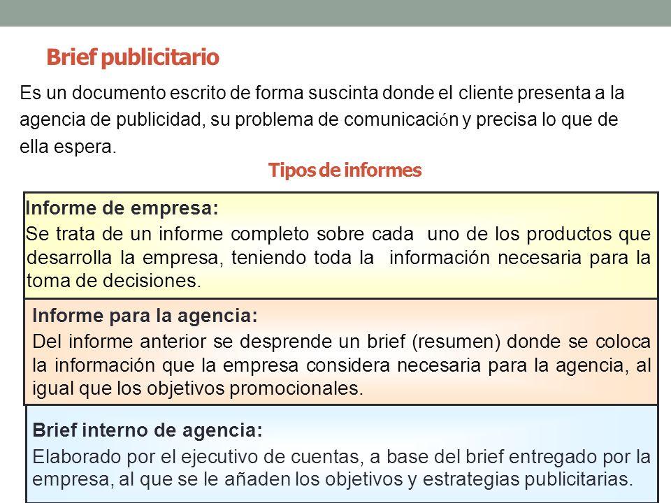 Brief publicitario Informe de empresa: