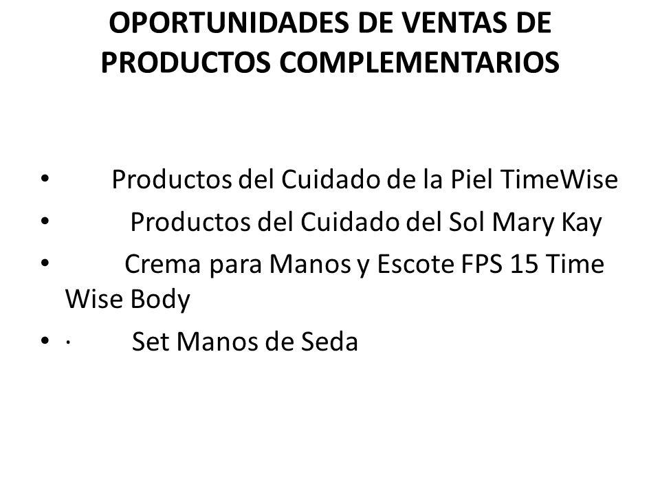 OPORTUNIDADES DE VENTAS DE PRODUCTOS COMPLEMENTARIOS
