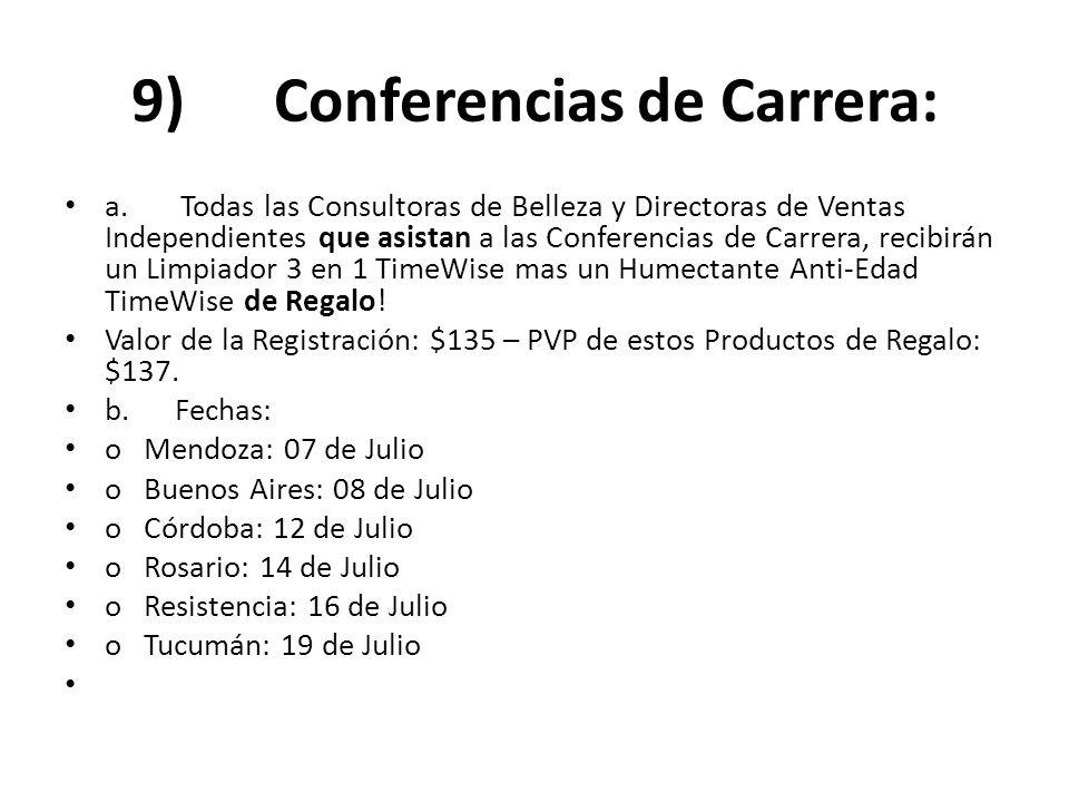 9) Conferencias de Carrera: