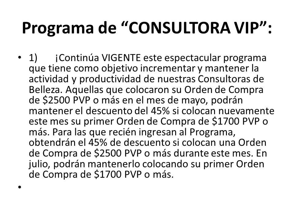 Programa de CONSULTORA VIP :