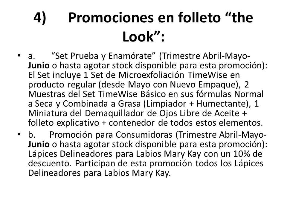 4) Promociones en folleto the Look :