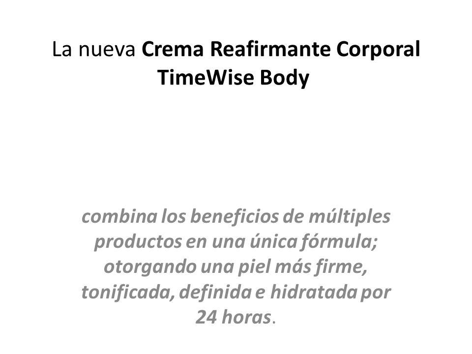 La nueva Crema Reafirmante Corporal TimeWise Body