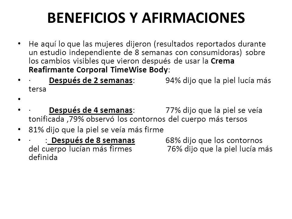 BENEFICIOS Y AFIRMACIONES