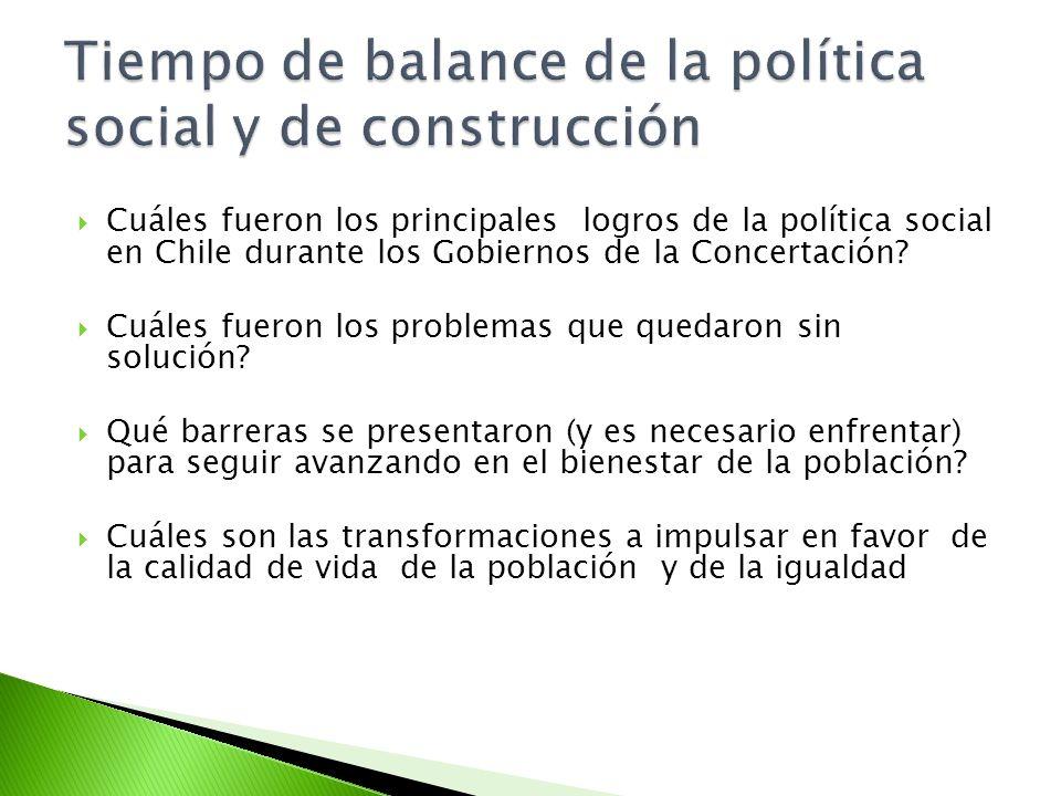 Tiempo de balance de la política social y de construcción