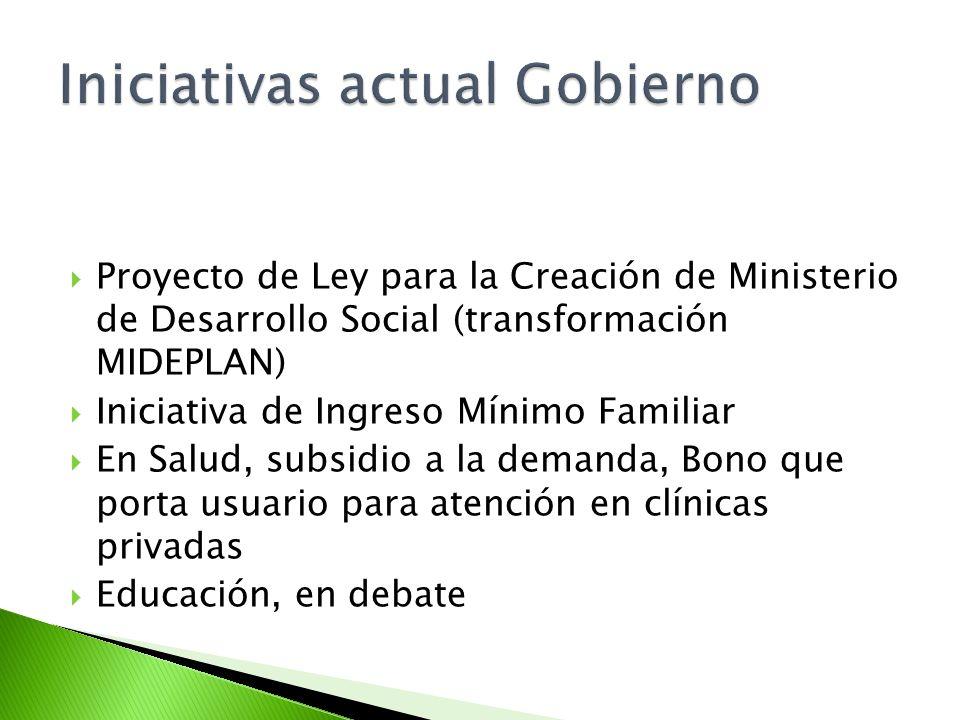 Iniciativas actual Gobierno