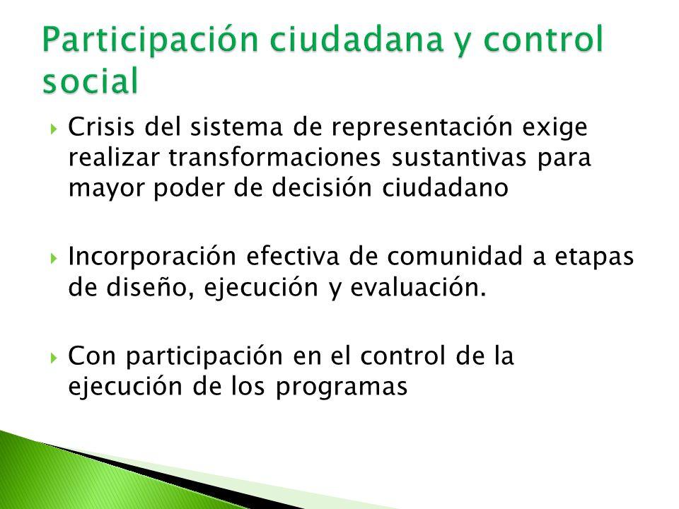 Participación ciudadana y control social