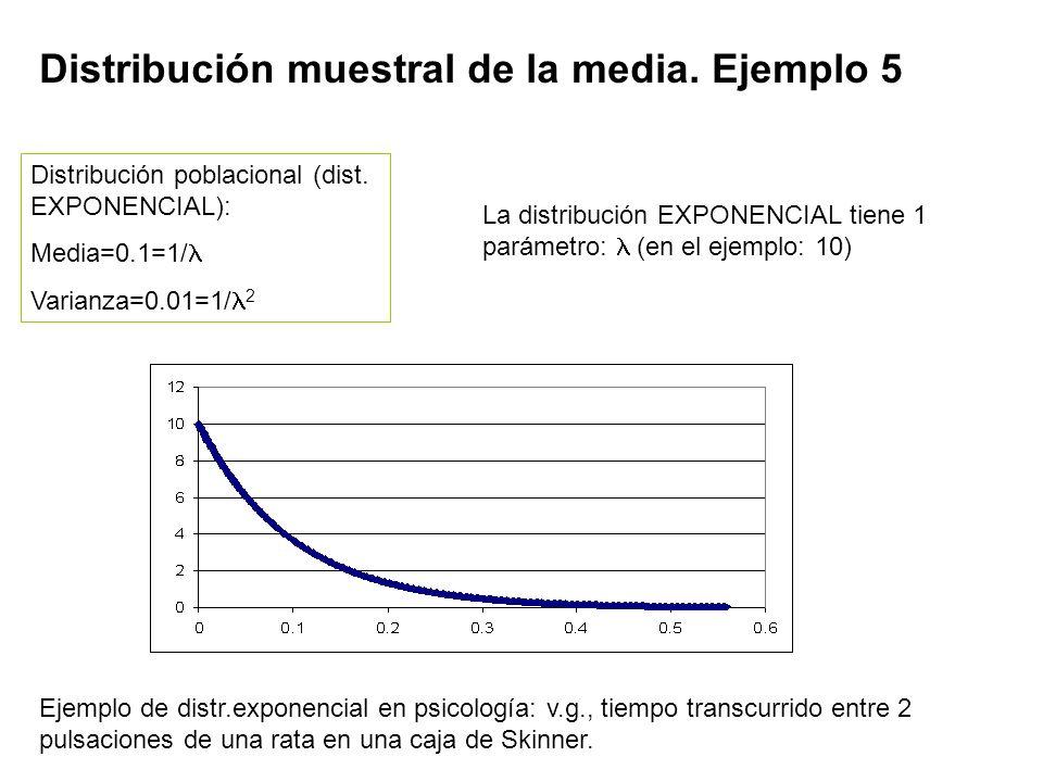 Distribución muestral de la media. Ejemplo 5