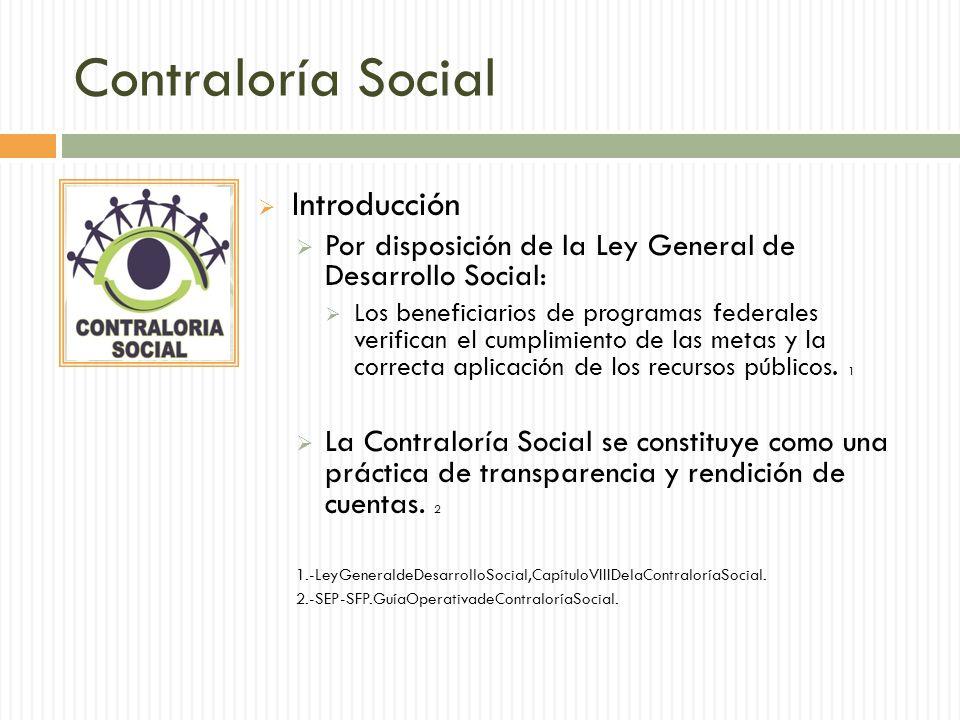 Contraloría Social Introducción