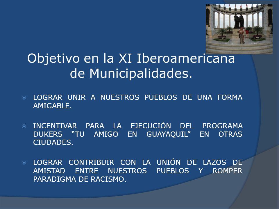 Objetivo en la XI Iberoamericana de Municipalidades.