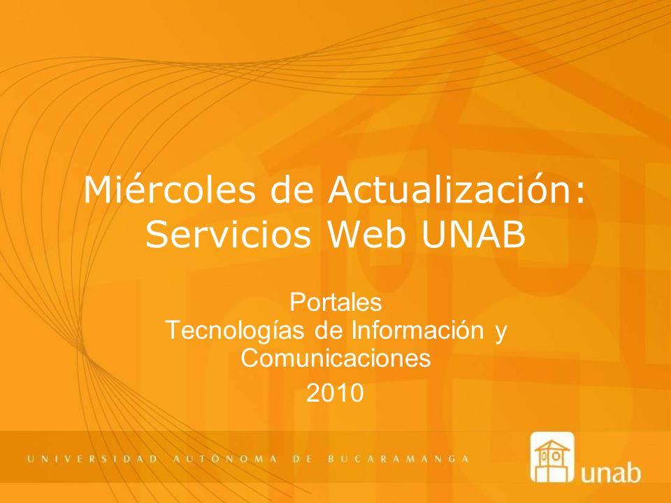 Miércoles de Actualización: Servicios Web UNAB