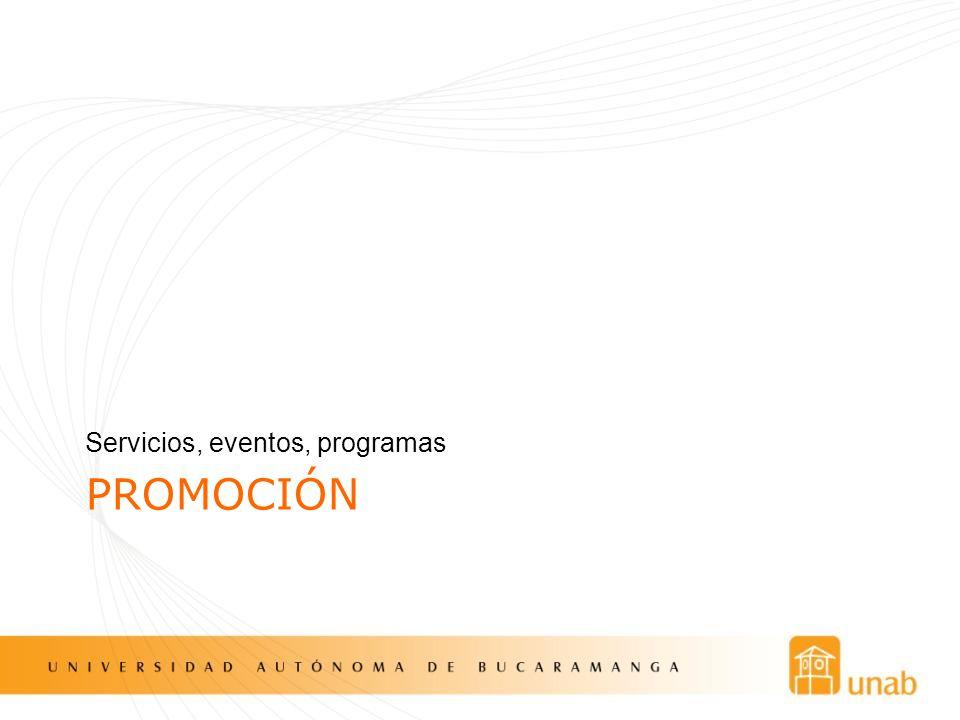 Servicios, eventos, programas