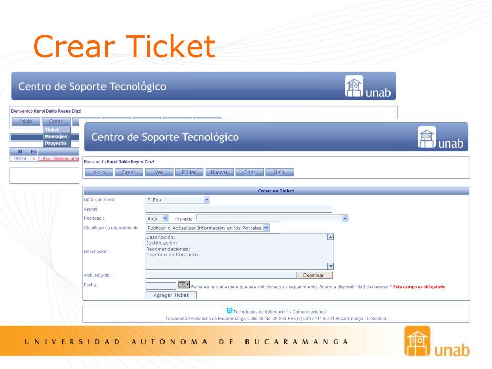 Crear Ticket