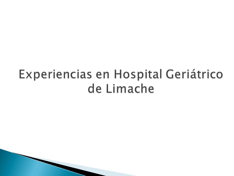 Experiencias en Hospital Geriátrico de Limache