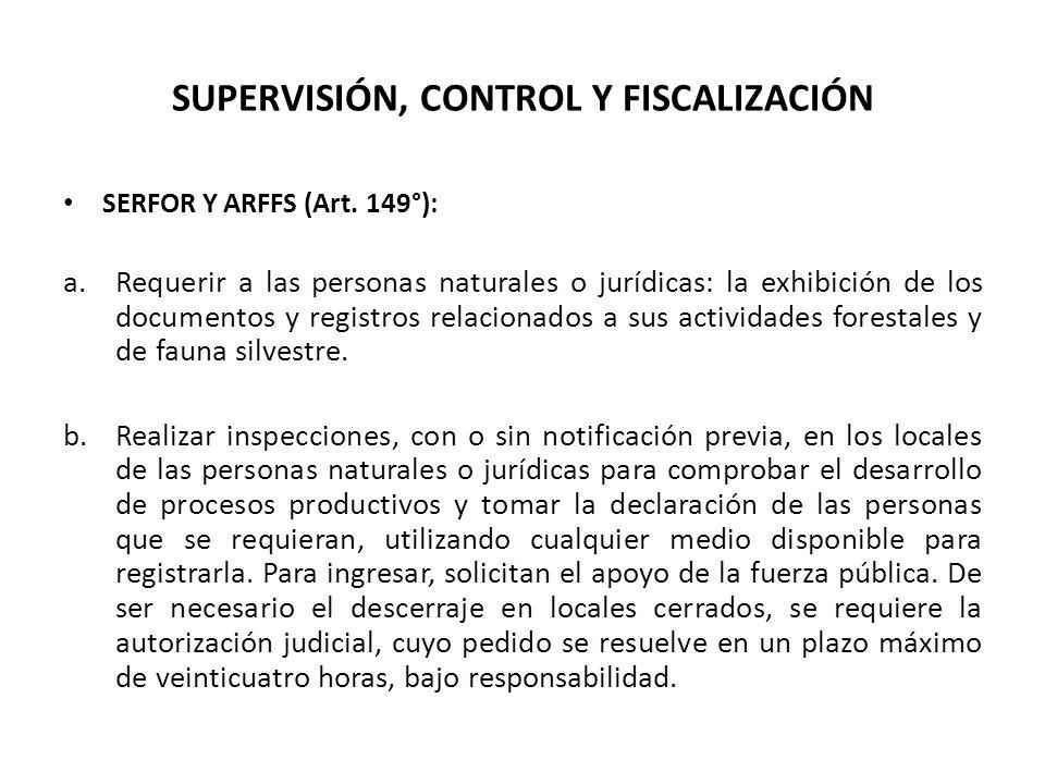 SUPERVISIÓN, CONTROL Y FISCALIZACIÓN