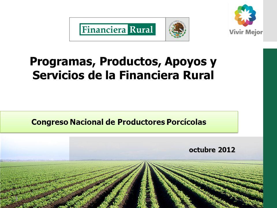 Programas, Productos, Apoyos y Servicios de la Financiera Rural