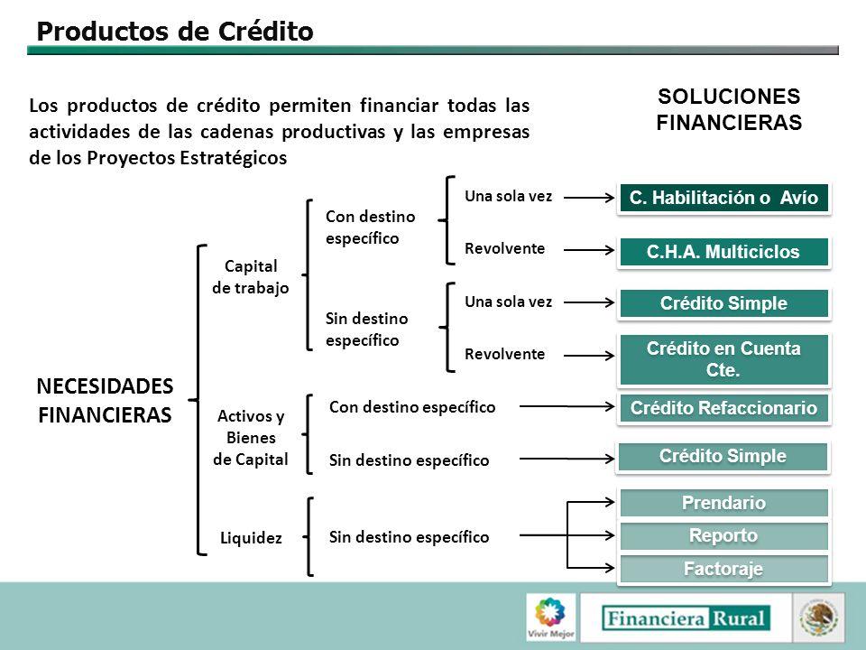 NECESIDADES FINANCIERAS Crédito Refaccionario
