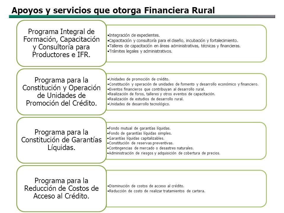 Apoyos y servicios que otorga Financiera Rural
