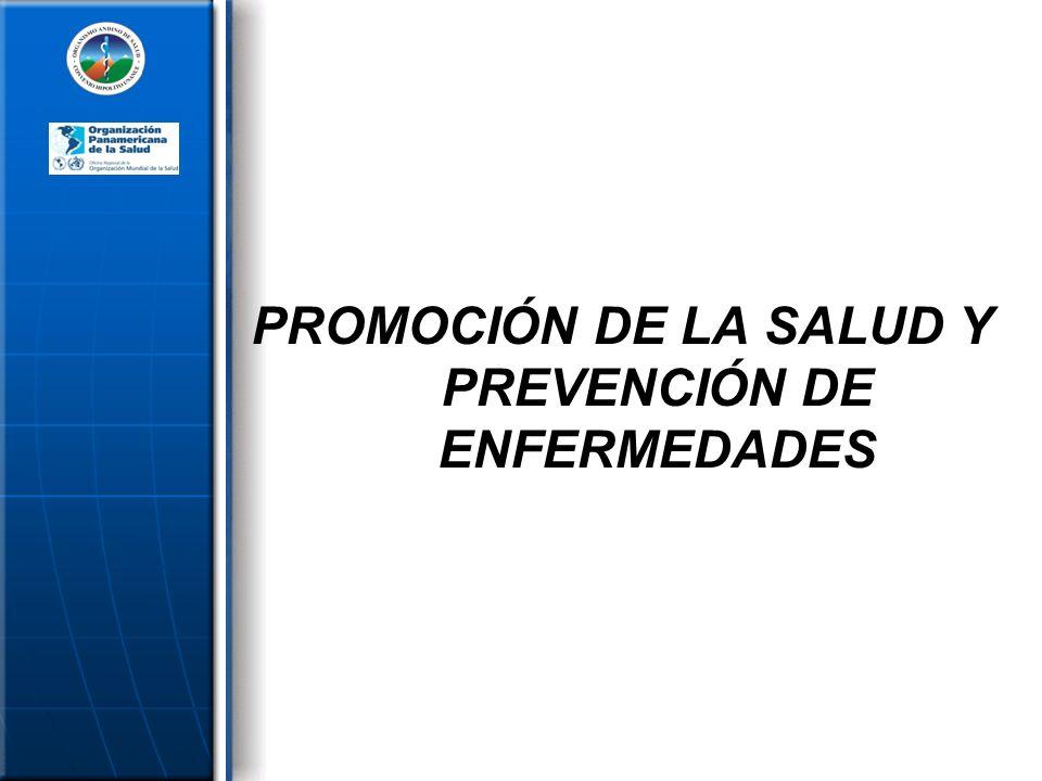 PROMOCIÓN DE LA SALUD Y PREVENCIÓN DE ENFERMEDADES