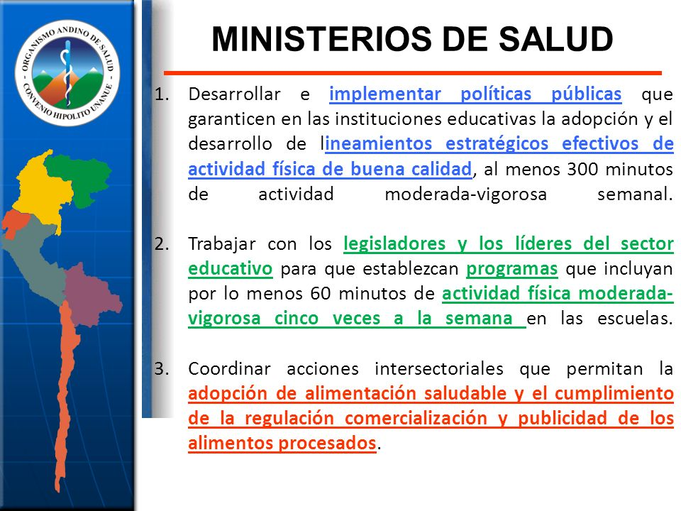 MINISTERIOS DE SALUD