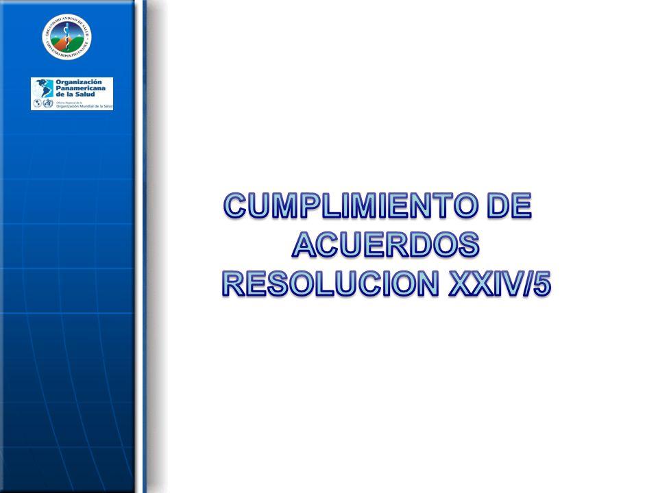 CUMPLIMIENTO DE ACUERDOS RESOLUCION XXIV/5