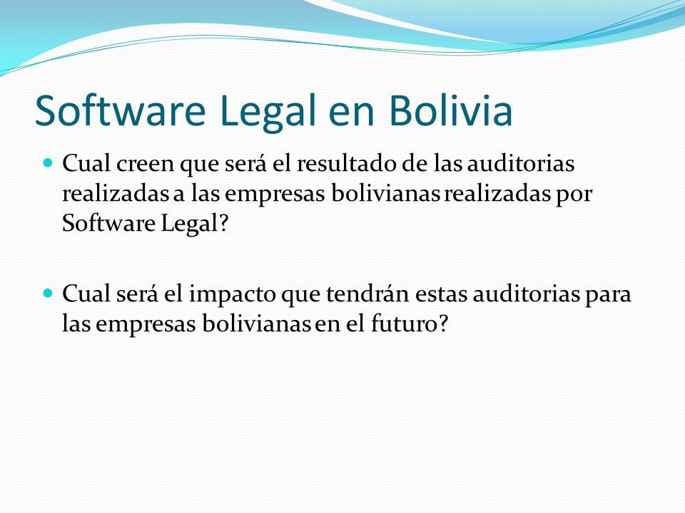 Software Legal en Bolivia