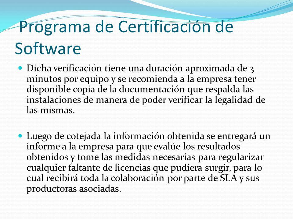 Programa de Certificación de Software