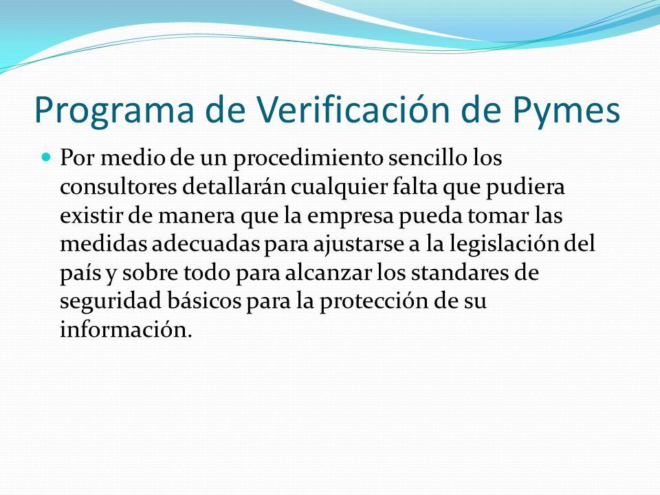 Programa de Verificación de Pymes
