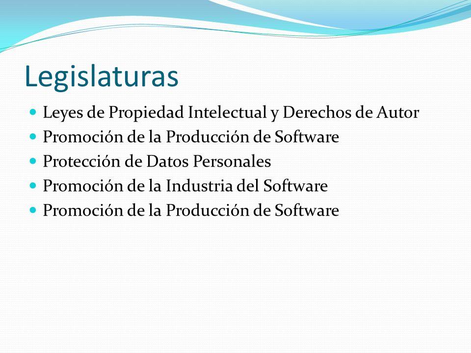Legislaturas Leyes de Propiedad Intelectual y Derechos de Autor