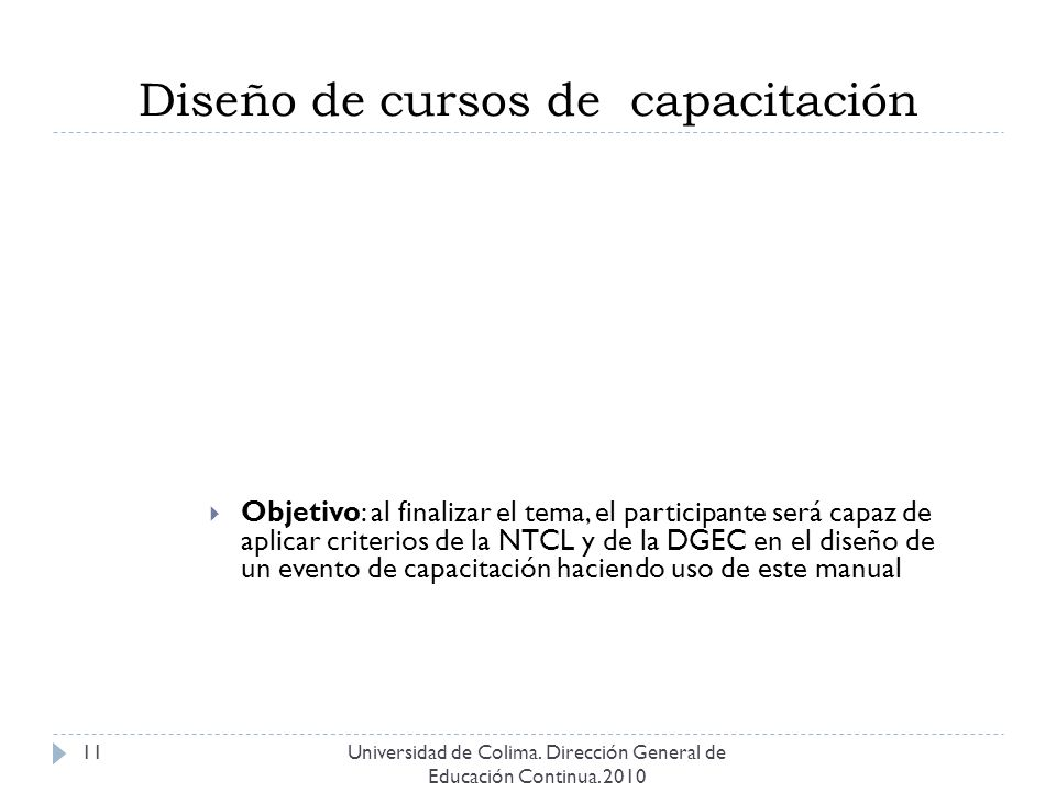 Diseño de cursos de capacitación