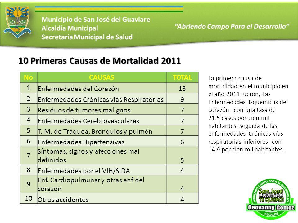 10 Primeras Causas de Mortalidad 2011
