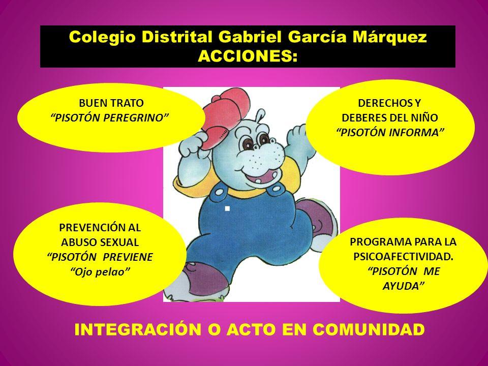 Colegio Distrital Gabriel García Márquez ACCIONES: