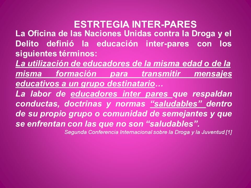 ESTRTEGIA INTER-PARES