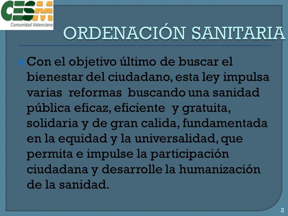 ORDENACIÓN SANITARIA