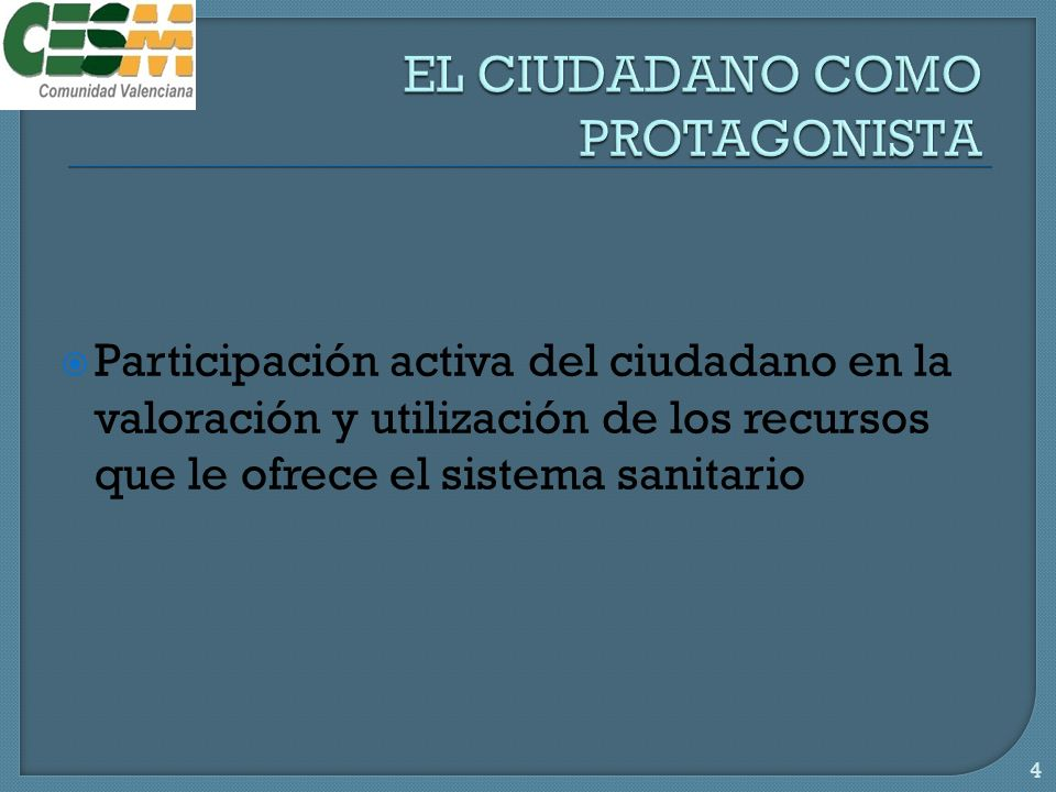 EL CIUDADANO COMO PROTAGONISTA