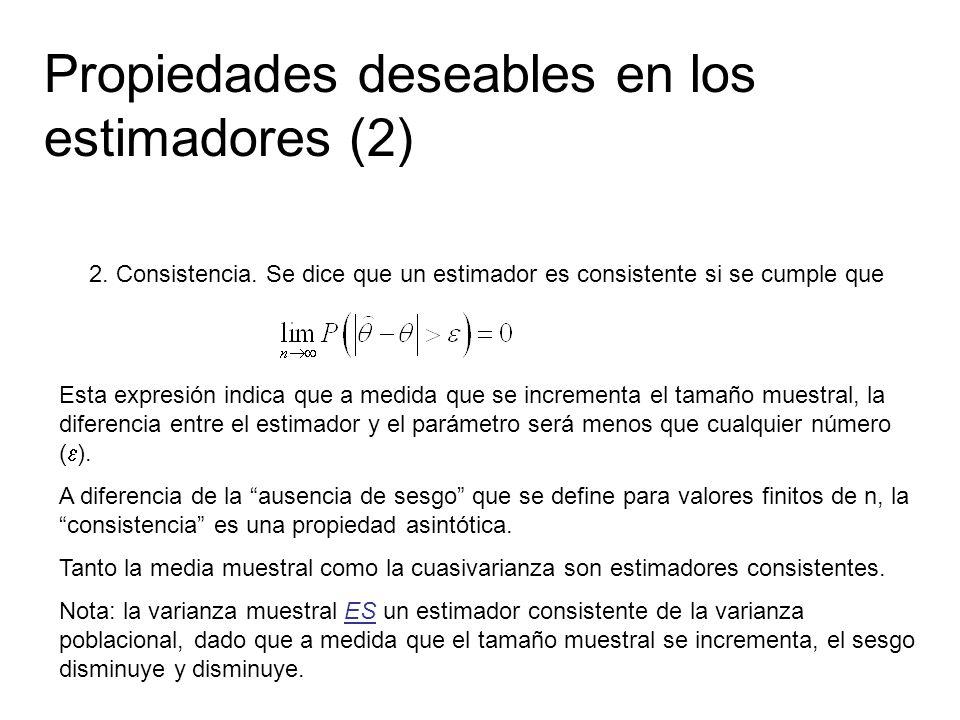 Propiedades deseables en los estimadores (2)