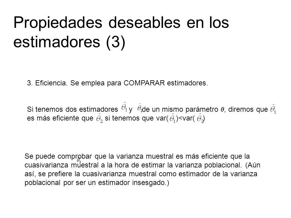Propiedades deseables en los estimadores (3)