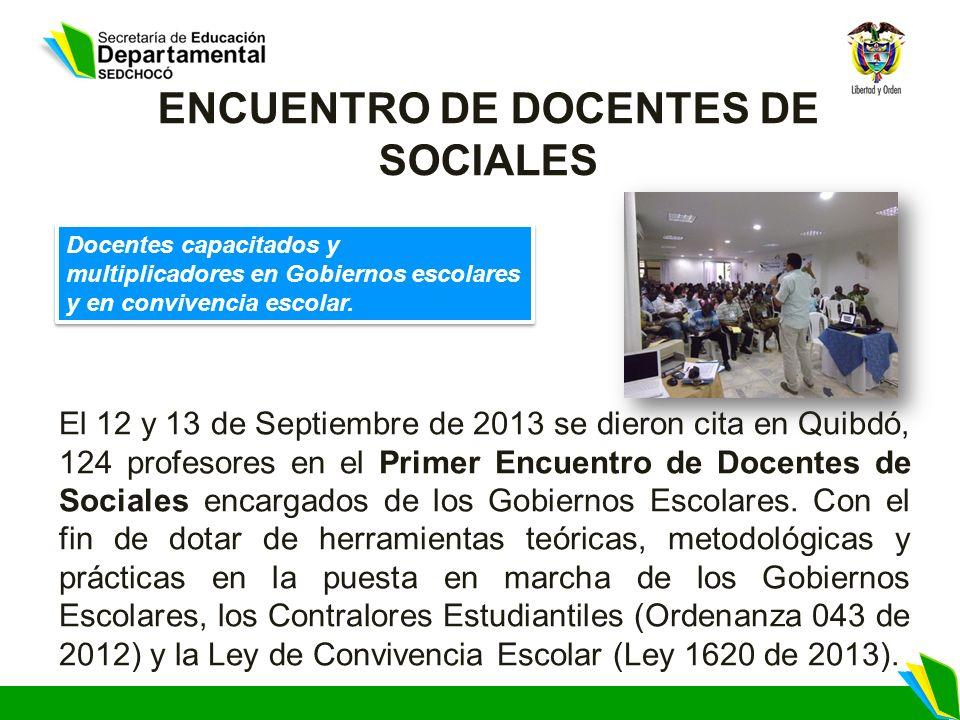 ENCUENTRO DE DOCENTES DE SOCIALES