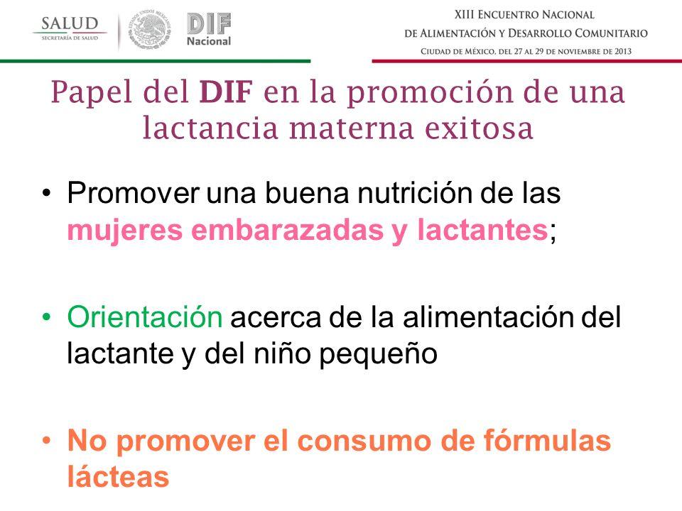 Papel del DIF en la promoción de una lactancia materna exitosa