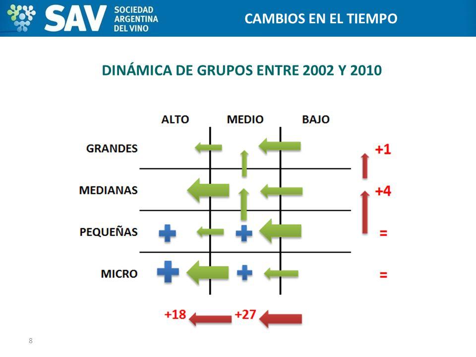 DINÁMICA DE GRUPOS ENTRE 2002 Y 2010