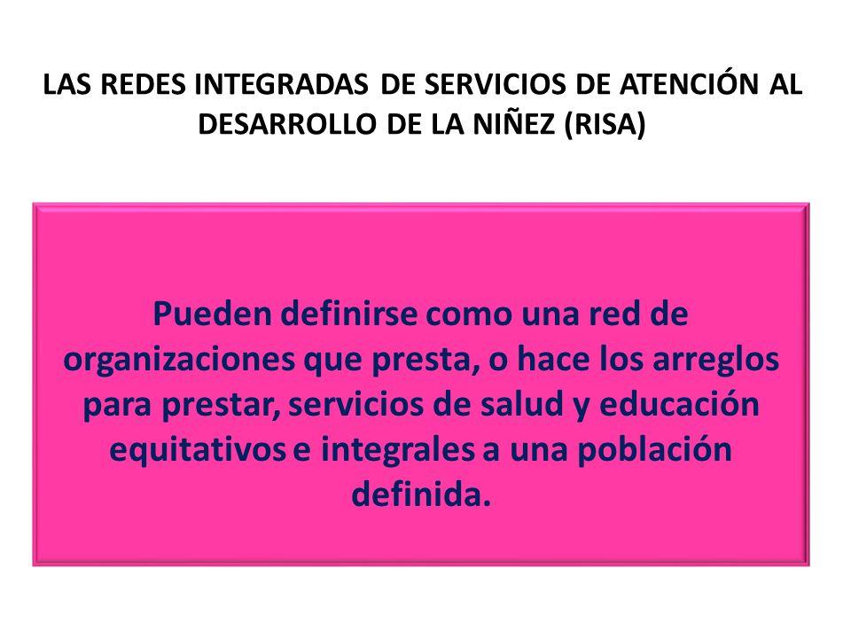 LAS REDES INTEGRADAS DE SERVICIOS DE ATENCIÓN AL DESARROLLO DE LA NIÑEZ (RISA)