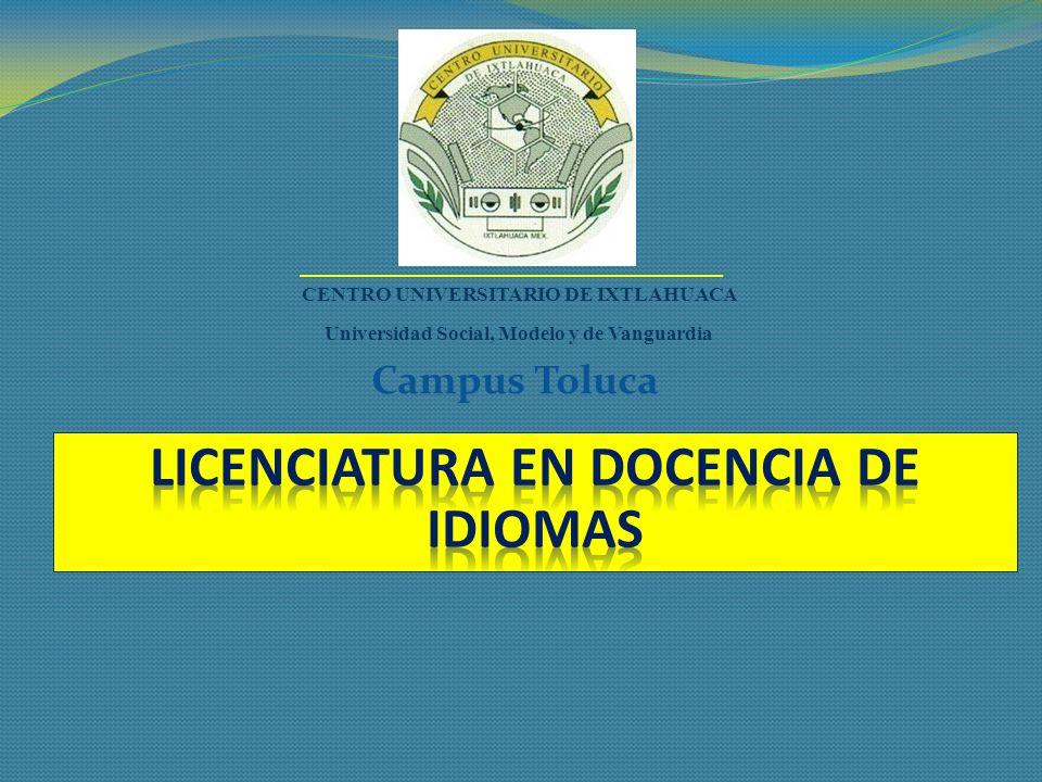 LICENCIATURA EN DOCENCIA DE IDIOMAS
