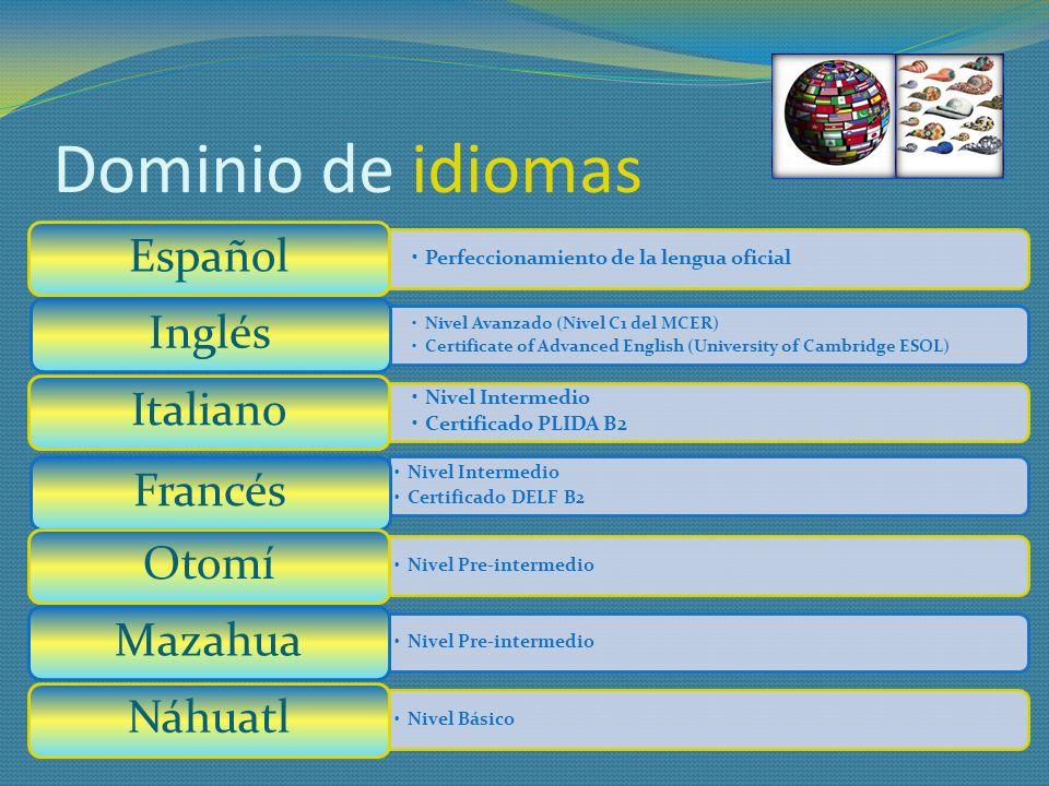 Dominio de idiomas Perfeccionamiento de la lengua oficial