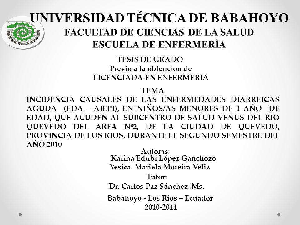 UNIVERSIDAD TÉCNICA DE BABAHOYO