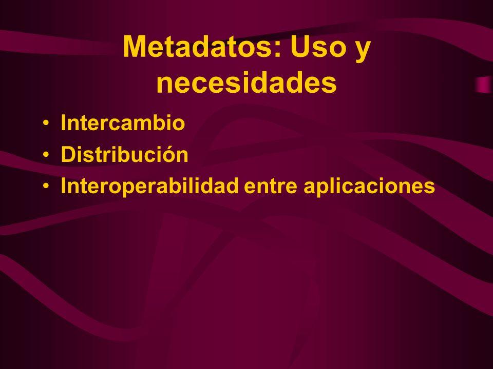 Metadatos: Uso y necesidades