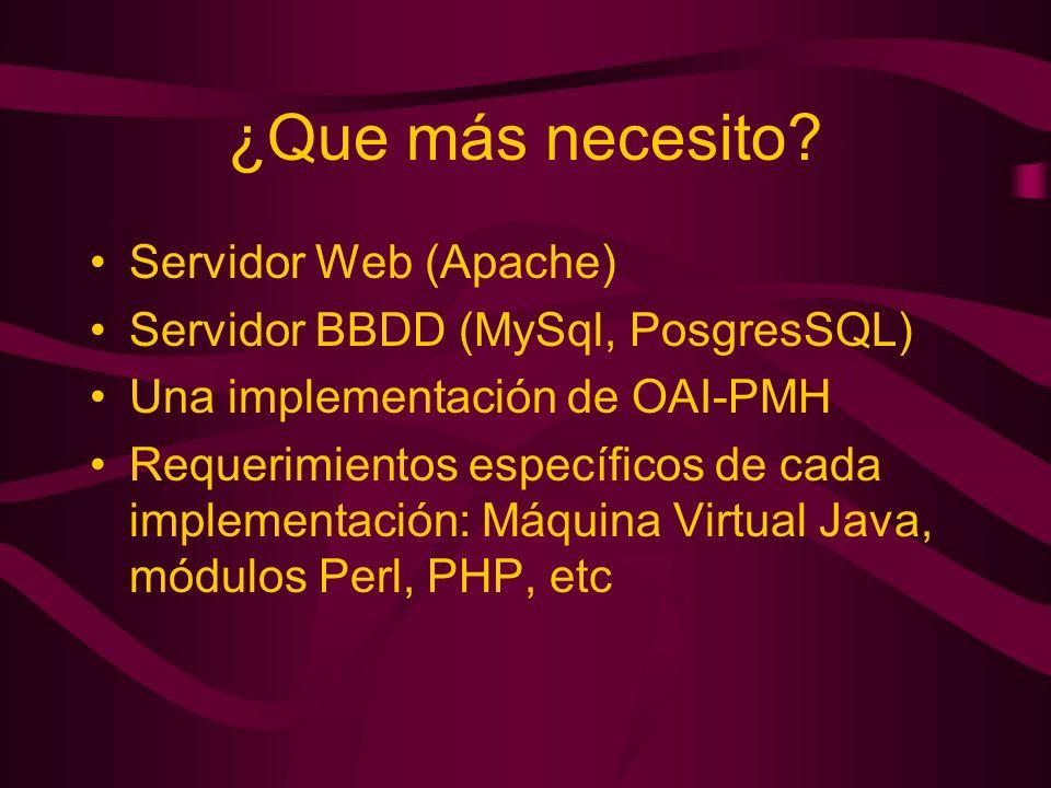 ¿Que más necesito Servidor Web (Apache)