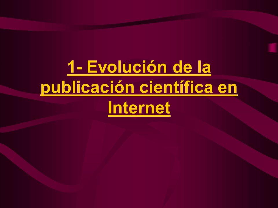 1- Evolución de la publicación científica en Internet