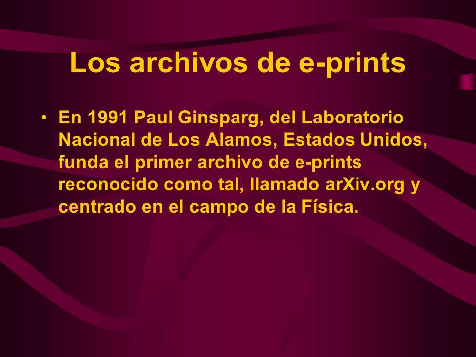 Los archivos de e-prints