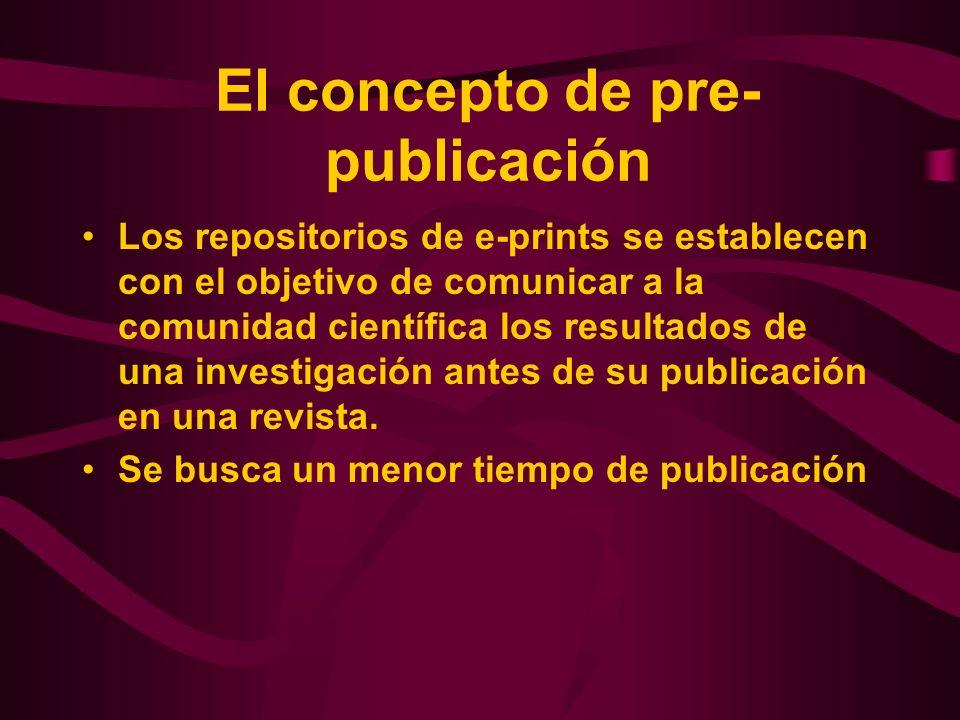 El concepto de pre-publicación