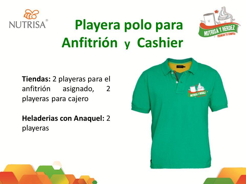 Playera polo para Anfitrión y Cashier