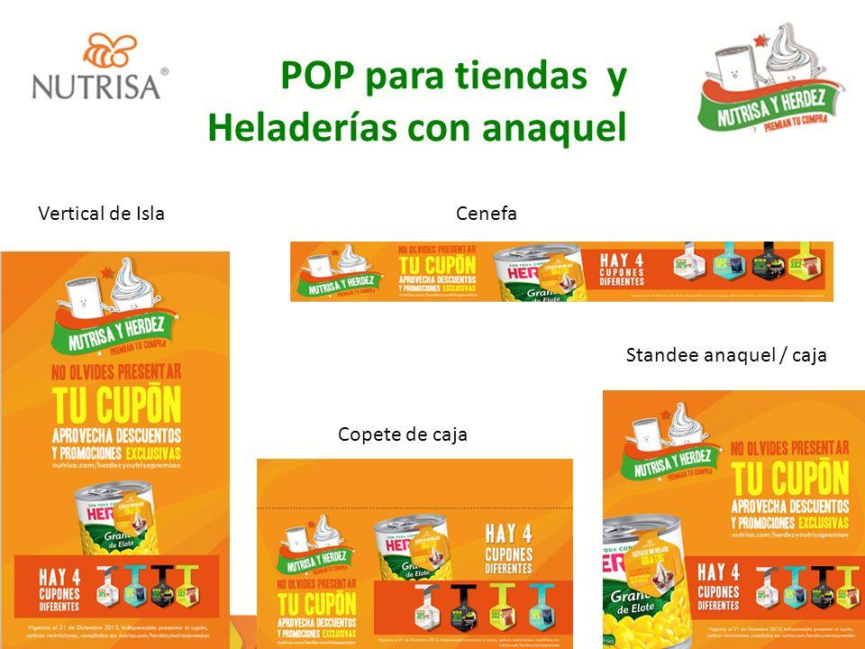 POP para tiendas y Heladerías con anaquel
